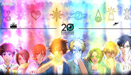 Digimon adventure  20th anniversary by elyrosas
