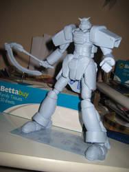 Blu Tack Gundam Model by sphu