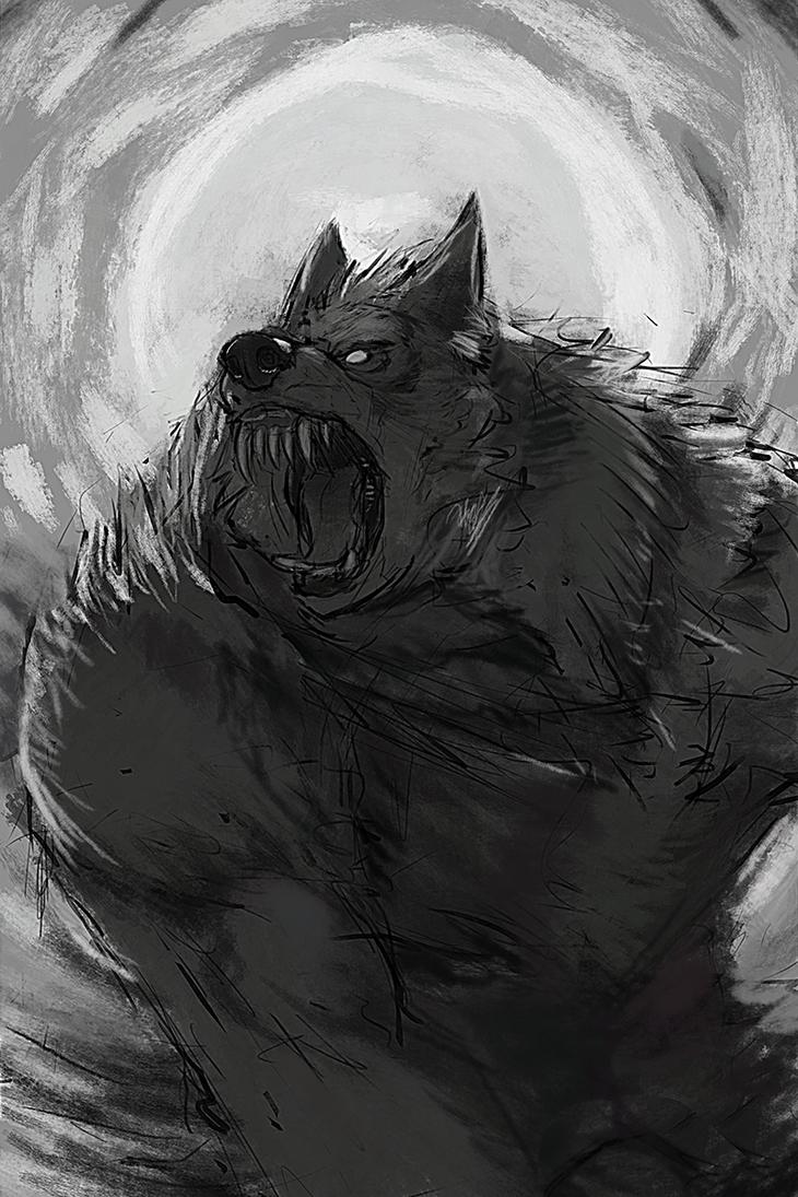Sketch: Werewolves by Eyrich