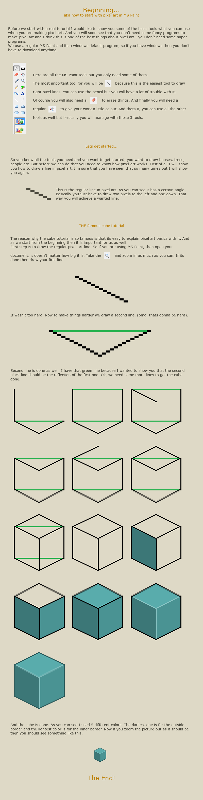 How to start with pixel art by vanmall