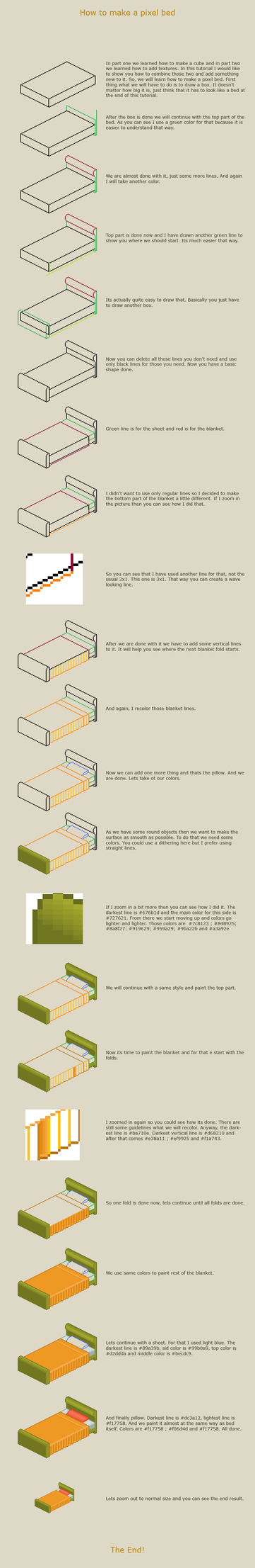 How to make a pixel bed by vanmall