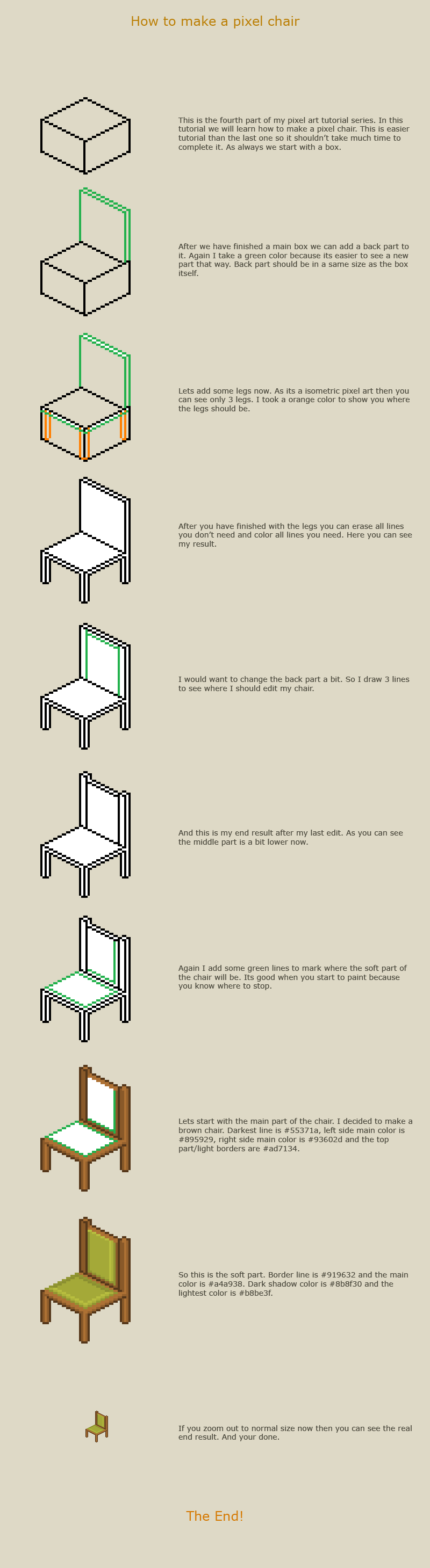 How to make a pixel chair by vanmall