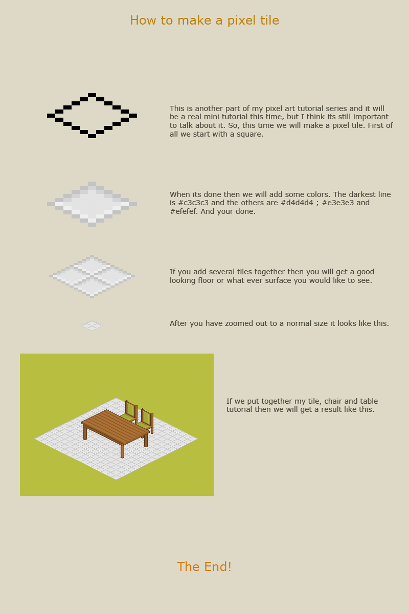 How to make a pixel tile