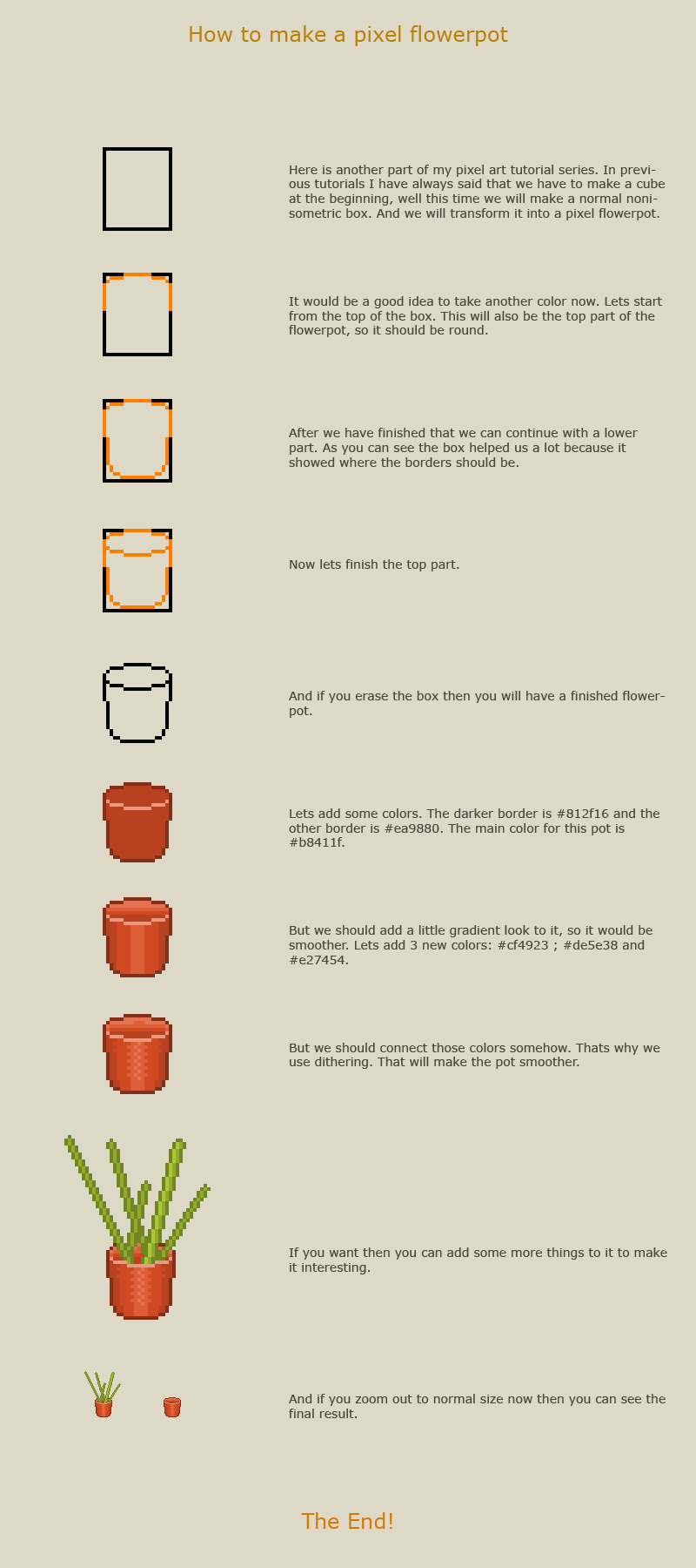 How to make a pixel flowerpot by vanmall