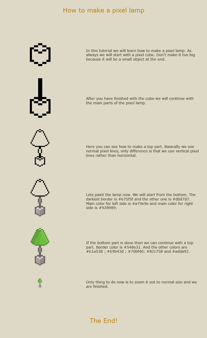 How to make a pixel lamp by vanmall