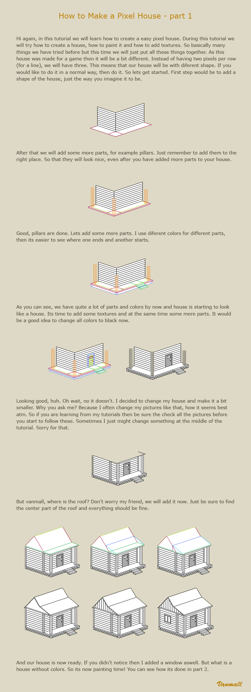 How to make a pixel house 1 by vanmall