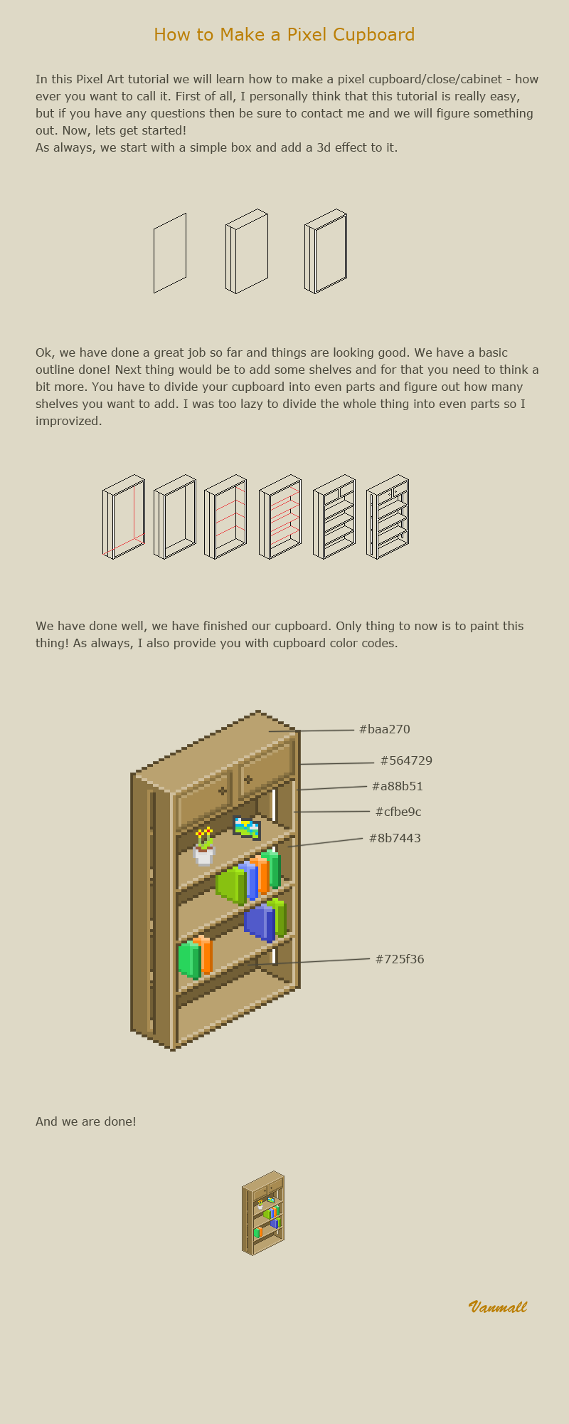How to make a pixel cupboard by vanmall