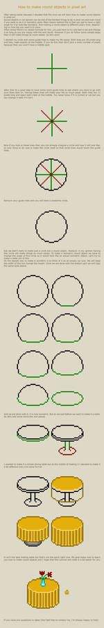 How to make round objects in pixel art