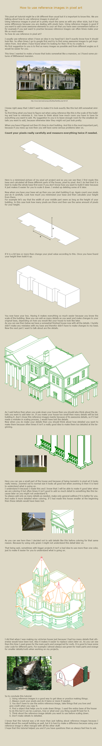 How to use reference images in pixel art by vanmall