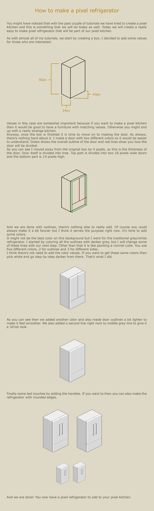 How to make a pixel refrigerator by vanmall