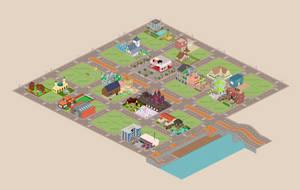 Pixel Art Town Project