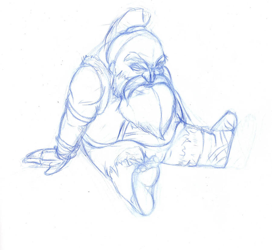 Sitting Dwarf by AlveenArt