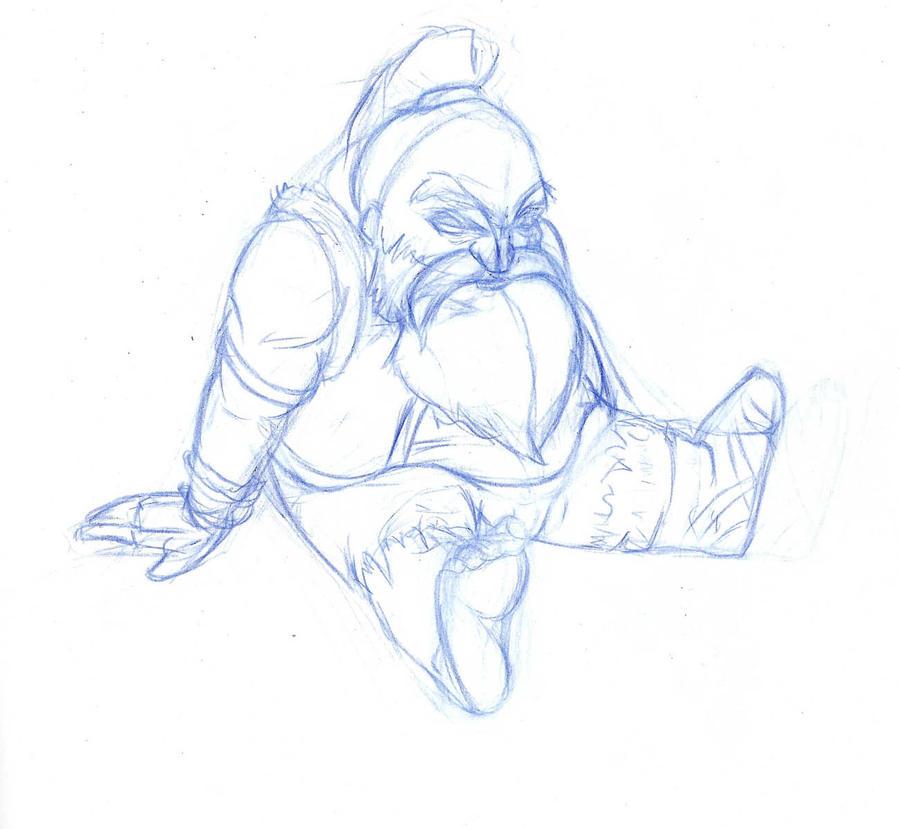 Sitting Dwarf by AlveenArt