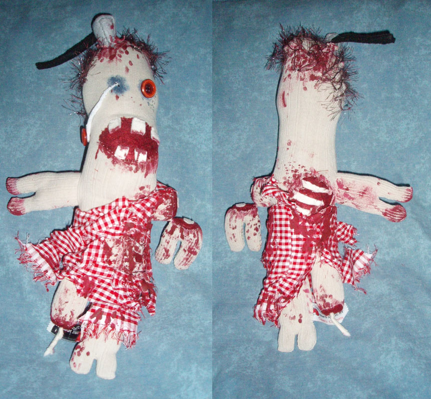 Sock Zombie Kate by RedDragonfly