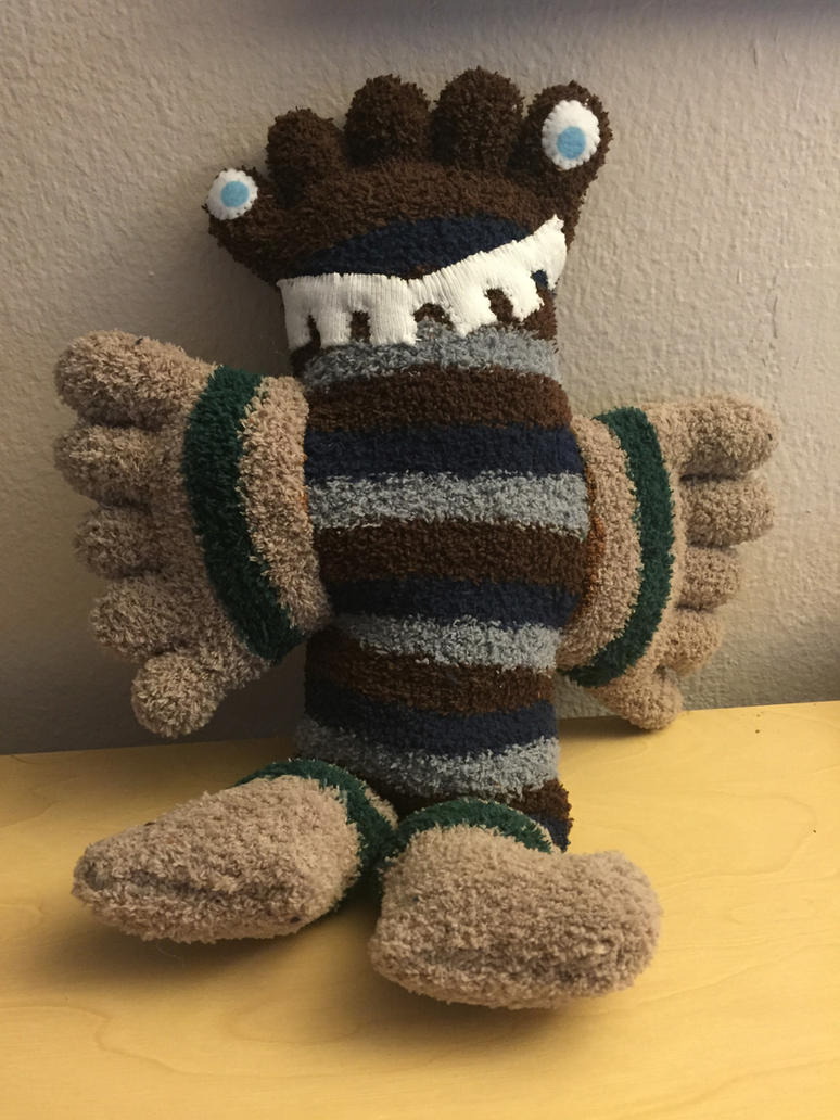 Sock Monster- Gio by RedDragonfly