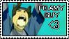 Foamy guy stamp by Jokersita