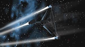 Tricorn spaceship