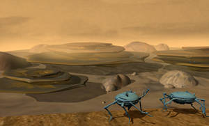The landscape on an alien planet (the Muuh)