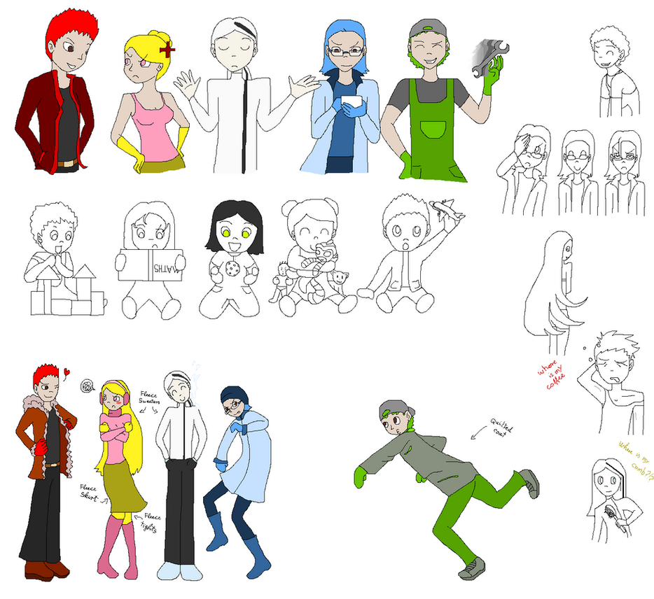 SRMTHG humanized monkeys doodles by Zoe-Spovafan