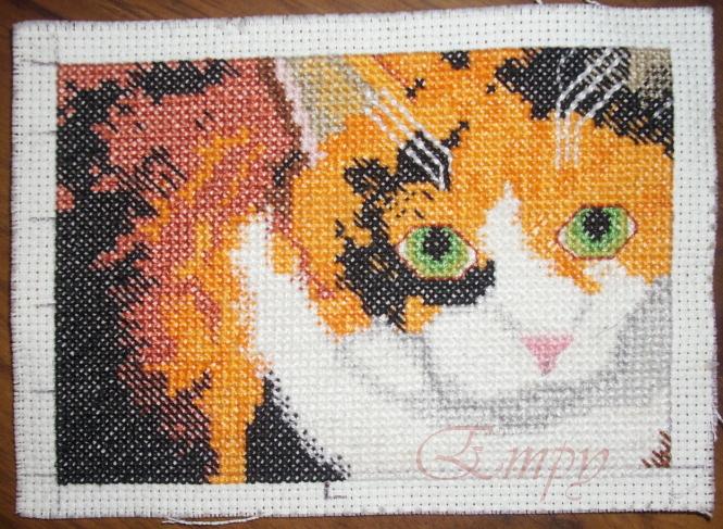 Pretty Kitty Bookmark - In Progress by EmpyP