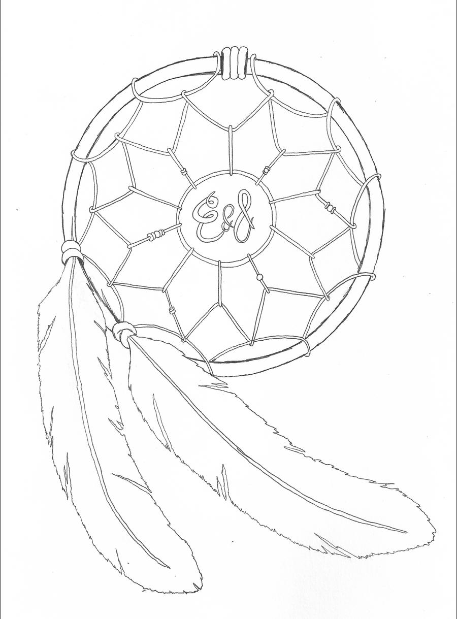 Dreamcatcher by jrhyme on deviantart for Dream catcher drawing easy