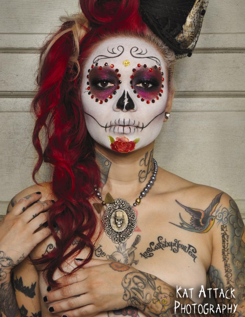 Dia de Los Muertos Portrait 1 by KatAttackPhotography