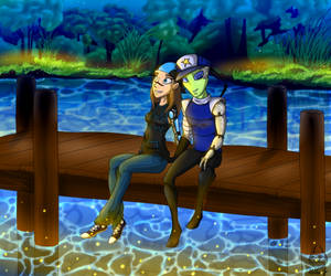 Commission - Chillin At The Dock by Mellea-Jo