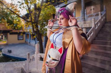 Demon kitsune by Matsu-Sotome