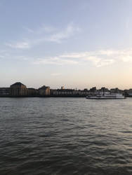 Evening view from Canary Wharf