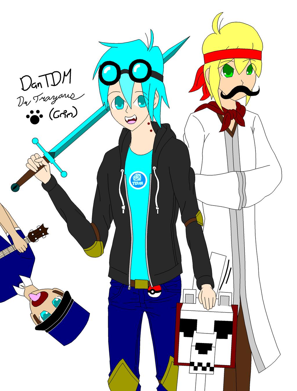 DanTDM And Trayaurus By FangRoseTheHedgehog On DeviantArt