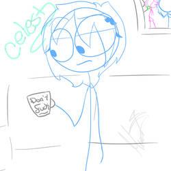 Celest (dick figures oc)