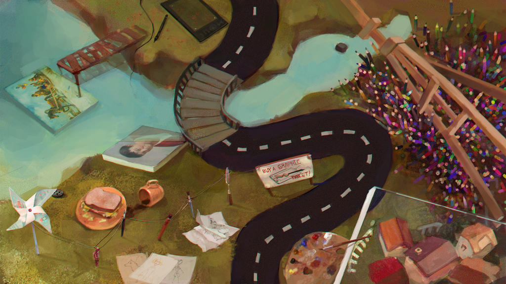 The Road Lies Through the Duck by Nayshi-Erol