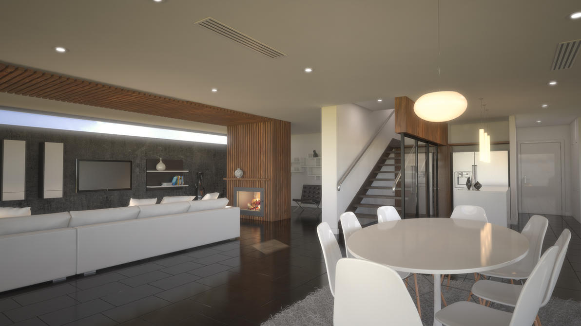 Living Room 3D Render #3 by bobi-z on DeviantArt