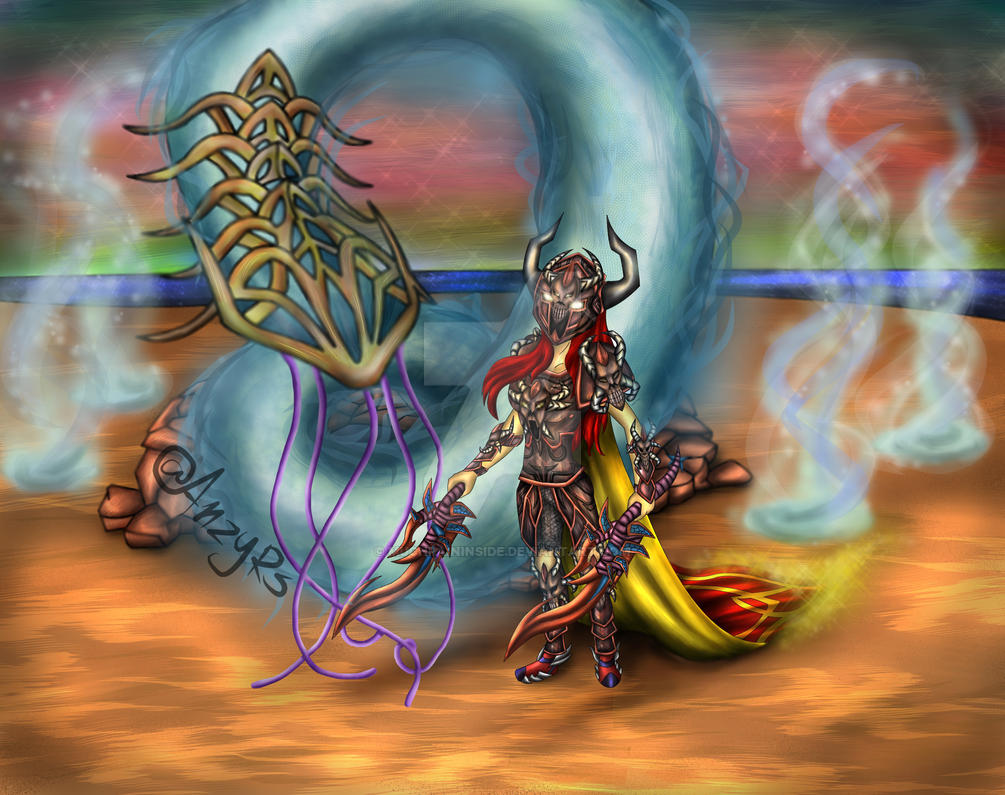Her vs Yakamaru by MuchPainInside