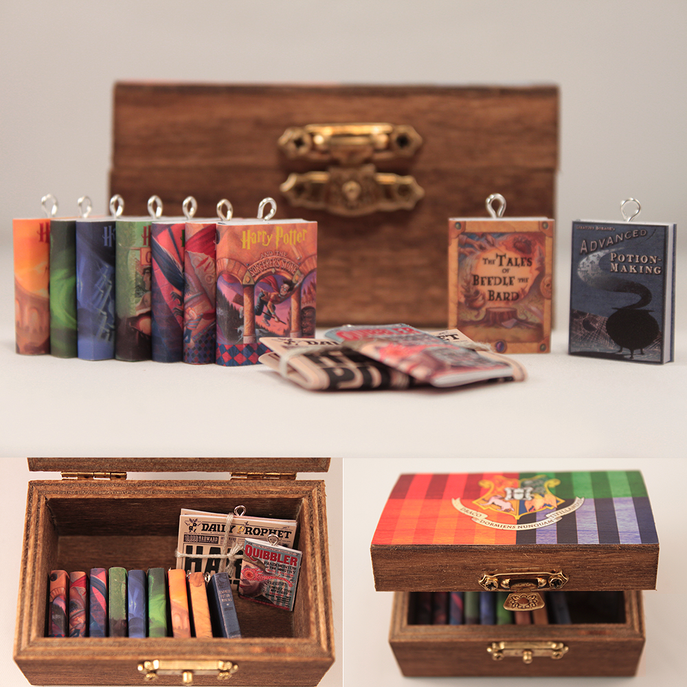 Deluxe Harry Potter Miniature Book Set by Saint-Rise on