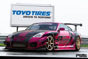Pink 350z by psas
