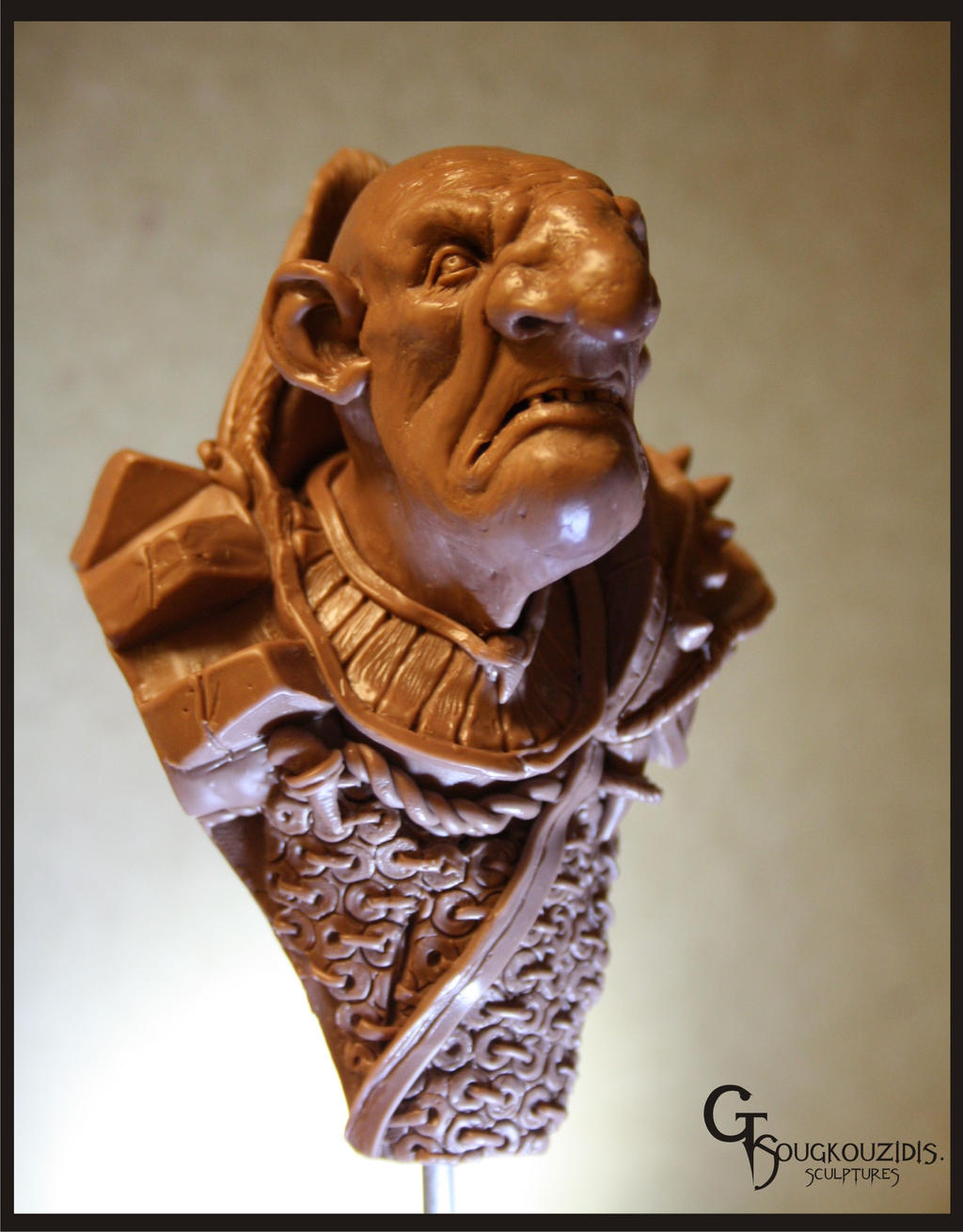 goblin bust 11cm material monster clay by giolord11