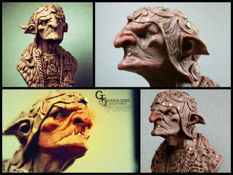 goblin bust  11 cm material monster clay by giolord11