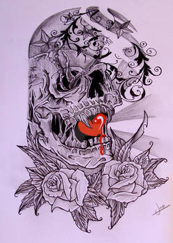 Half Sleeve skull
