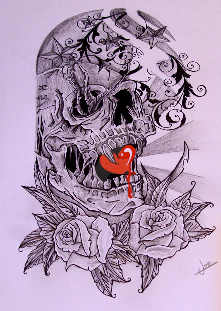 half sleeve skull by josephblacktattoos on deviantart. Black Bedroom Furniture Sets. Home Design Ideas