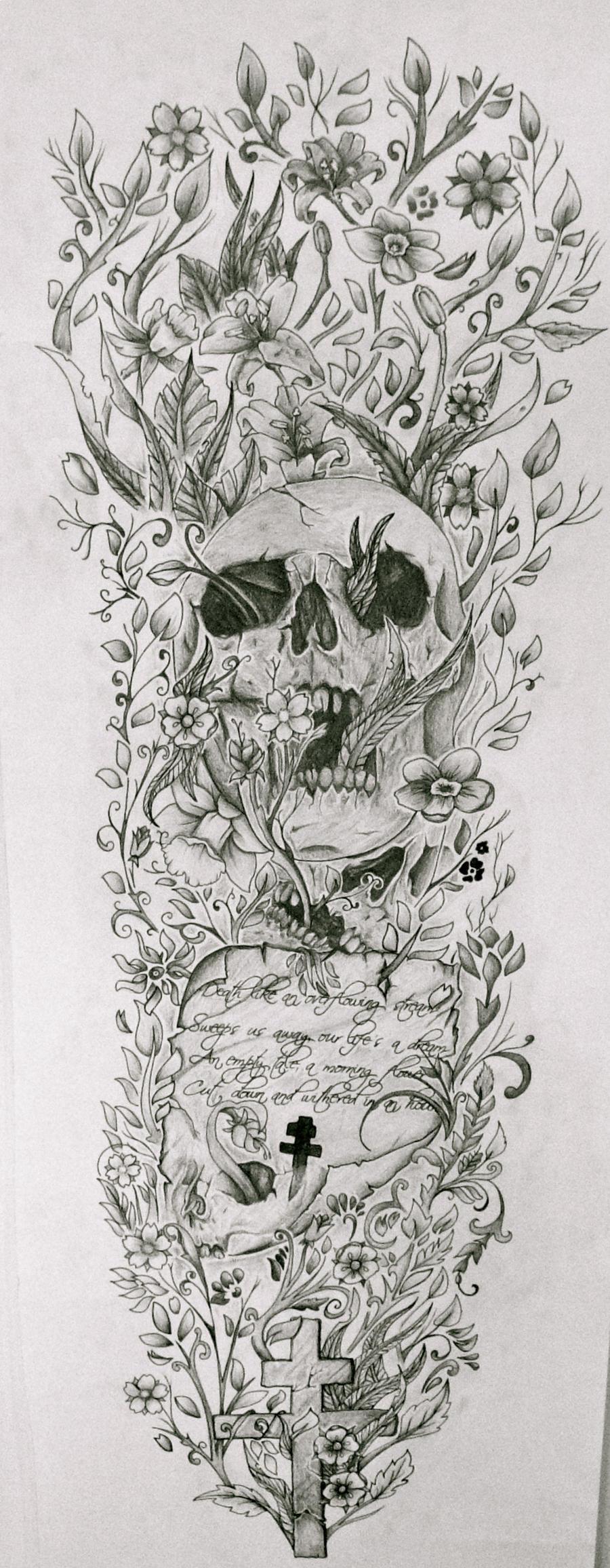 Full sleeve by josephblacktattoos on deviantart for Half sleeve tattoo sketches