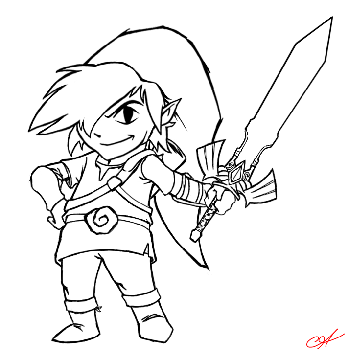 toon link coloring pages - photo#15