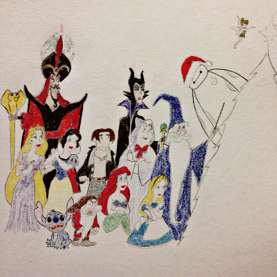 Disney Character Christmas (UNFINISHED) by luxordrocks1995