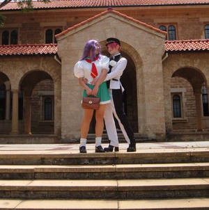 Movie Utena and Anthy cosplay