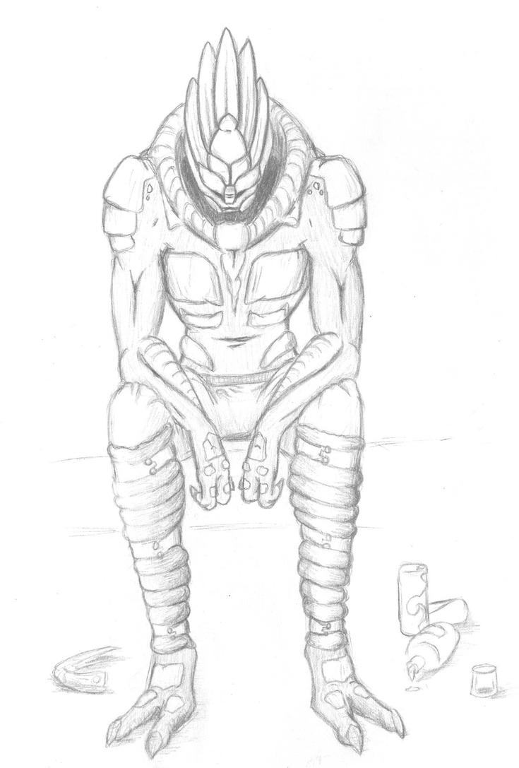 Garrus alone by Inunashi