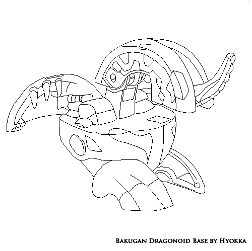 Bakugon Dragonoid - Free Colouring Pages