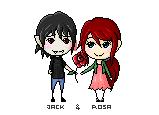 Pixel: Jack and Rosa. by hyokka