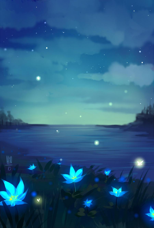 Gryderart berkley gryder deviantart there are blue flowers on the shore by hyokka izmirmasajfo