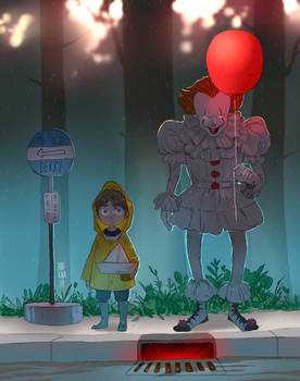 Georgie and Pennywise