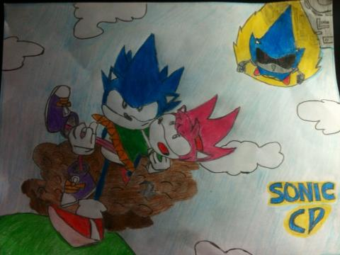 Sonic and Amy - Sonic CD by Mariogtz17